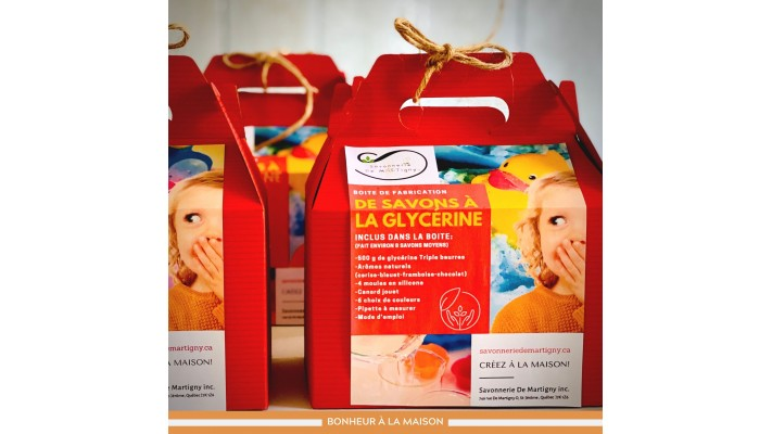 Boite de fabrication | Savon à la glycérine