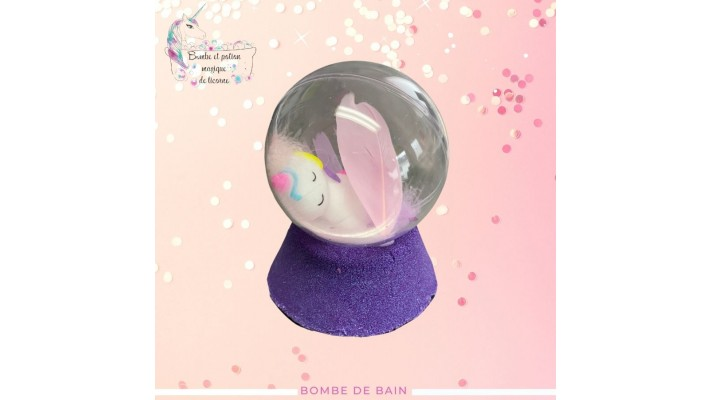 Bombe de bain globe | Licorne
