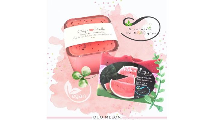Duo Bougie & savon | Melon d'eau