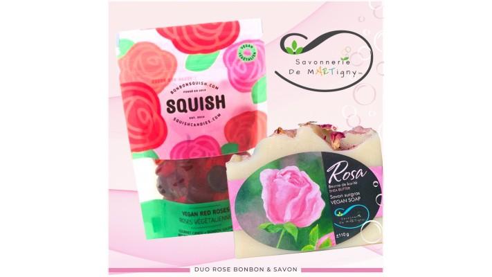 Duo rose bonbon & savon