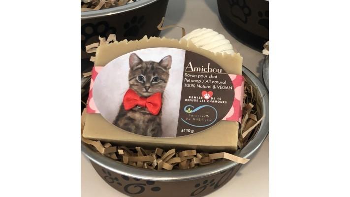 Ensemble cadeau Amichou pour chat sans parfum