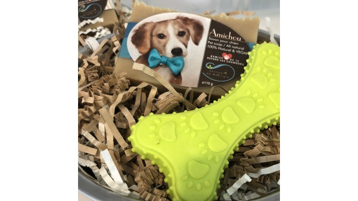 Ensemble cadeau Amichou pour chien sans parfum
