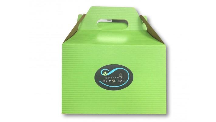 Boîte de 6 savons sans parfum au choix de la savonnière