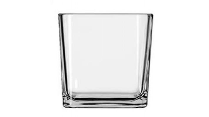 Récipient de bougie en verre cube, 210ml