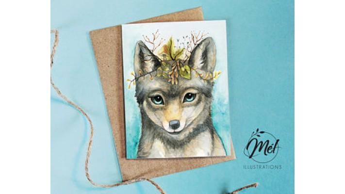 Loup et couronne